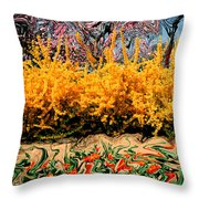A Painting Springtime 2 Dali-style Throw Pillow