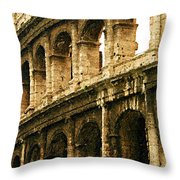 A Painting The Colosseum Throw Pillow