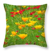 A Painting Tuscan Poppies Throw Pillow