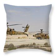 A Pair Of Ah-64d Saraf Attack Throw Pillow