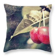 A Pair Of Cherries Throw Pillow