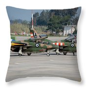 A Pair Of Hellenic Air Force T-2 Throw Pillow