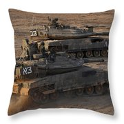 A Pair Of Israel Defense Force Merkava Throw Pillow
