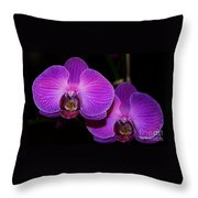A Pair Of Purple Orchids From Bermuda Throw Pillow
