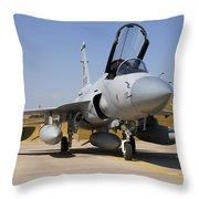 A Pakistan Air Force Jf-17 Thunder Throw Pillow
