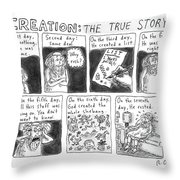 A Panel Called Creation: The True Story Which Throw Pillow