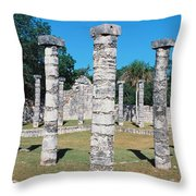 A Panoramic View Of Columns Surround Throw Pillow