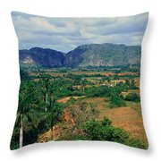 A Panoramic View Of The Valle De Throw Pillow