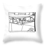 A Parent Driving A Car Throw Pillow