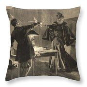 A Parisien Drama, Illustration From Le Throw Pillow