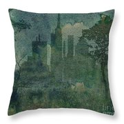 A Park In The City Throw Pillow