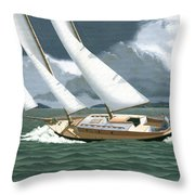 A Passing Squall Throw Pillow