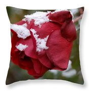 A Passing Unrequited - Rose In Winter Throw Pillow
