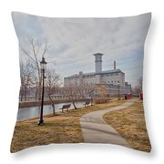 A Path To The Factory Throw Pillow
