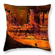 A Pause In Monument Park Throw Pillow