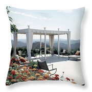 A Pavilion In The Backyard Of Bruce Macintosh's Throw Pillow