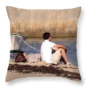 A Peaceful Day At Provincetown  Throw Pillow