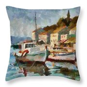 A Peaceful Harbour  Throw Pillow