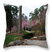 A Peaceful Path Home Throw Pillow