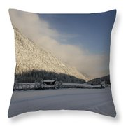A Peaceful Snow Landsscape Throw Pillow