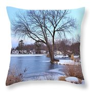A Peaceful Winter Day Throw Pillow