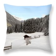 A Peaceful Winterscene Throw Pillow