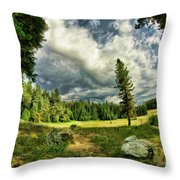 A Peacful Yosemite Day Throw Pillow