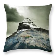 A Peak Of A Mountain Top In The Rocky Throw Pillow