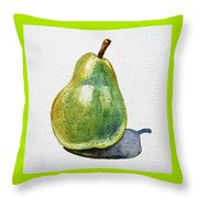 A Pear Throw Pillow