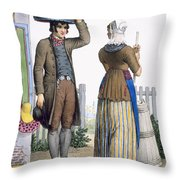 A Peasant Couple Of Parmerend, North Throw Pillow