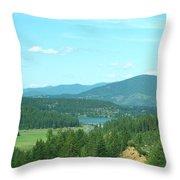 A Peek At Lake Coer D'alene  Throw Pillow