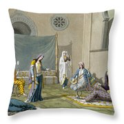 A Persian Harem, From Le Costume Ancien Throw Pillow