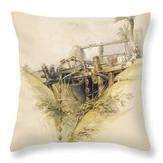 A Persian Water Wheel, Used In Raising Throw Pillow