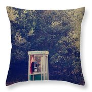 A Phone In A Booth? Throw Pillow