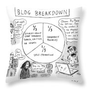 A Pie Chart Titled Blog Breakdown Is Divided Throw Pillow