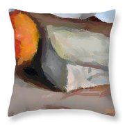 A Piece Of Goat Cheese Throw Pillow