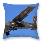 A Pilatus Pc-6 Of The Swiss Air Force Throw Pillow