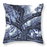 A Place For Dying Blue Throw Pillow