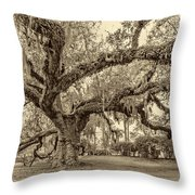 A Place For Dying Sepia 2 Throw Pillow