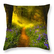 A Place In The Sun - Impressionism Throw Pillow