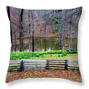 A Place Of Peace Among The Daffodils Throw Pillow