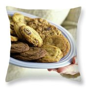 A Plate Of Cookies Throw Pillow