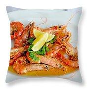 A Plate Of Shrimp Throw Pillow