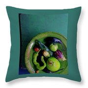 A Plate Of Vegetables Throw Pillow