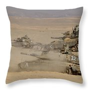 A Platoon Of Israel Defense Force Throw Pillow