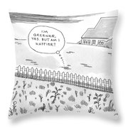 A Plot Of Grass Is Seen To Reflect As It Sits Throw Pillow