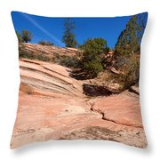 A Pool Of Rock Throw Pillow