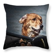 A Portrait Of A Golden Retriever Throw Pillow