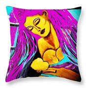 A Portrait Of A Mother's Love Throw Pillow