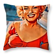 A Portrait Of Marilyn Throw Pillow
